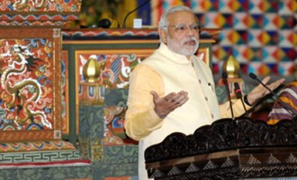 Prime Minister Narendra Modi addressing the Joint Session of the Parliament of Bhutan