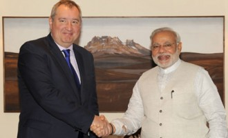 Deputy Chairman of the Government of the Russian Federation, Mr. Dmitry O. Rogozin calling on the Prime Minister, Shri Narendra Modi