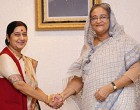 External Affairs Minister Smt. Sushma Swaraj meets Prime Minister Sheikh Hasina of Bangladesh in Dhaka