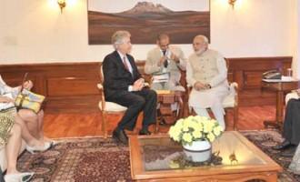 The US Deputy Secretary of State, William Burns calls on the Prime Minister, Narendra Modi