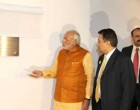 The Prime Minister, Narendra Modi inaugurating the New Chancery Building of the Indian Embassy, at Brasilia, in Brazil