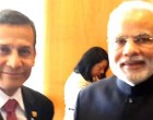 The Prime Minister, Narendra Modi meeting the President of the Republic of Peru, Ollanta Humala