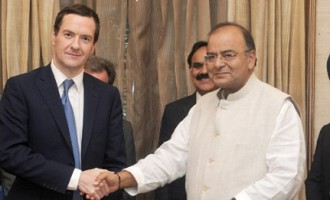 Minister for Finance, Corporate Affairs and Defence, Shri Arun Jaitley and the UK Chancellor of the Exchequer, Mr. George Osborne signed an Accord