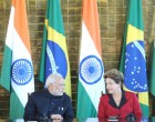 Prime Minister, Shri Narendra Modi and the President of Brazil, Ms. Dilma Rousseff at the signing ceremony