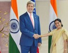 External Affairs Minister meets US Secretary of State John Kerry in New Delhi