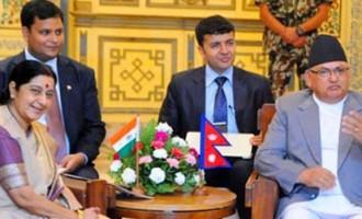 Sushma Swaraj meets Nepali leaders as joint commission meet starts