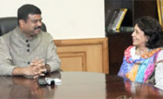 Ambassador, Bolivarian Republic of Venezuela to India, Mrs. Milena Santana Ramirez calls on the Minister of State (Independent Charge) for Petroleum and Natural Gas, Shri Dharmendra Pradhan
