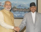 Modi discusses bilateral ties with Nepal president