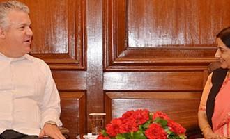 External Affairs Minister meets Vice Minister of Foreign Affairs and Human Mobility of Ecuador, Mr. Leonardo Arizaga