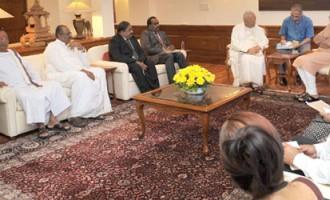 Delegation from Tamil National Alliance, Sri Lanka calls on the Prime Minister Narendra Modi in New Delhi