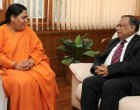 The Foreign Minister of Bangladesh, Abdul Hassan Mahmood Ali calls on the Minister for Water Resources, River Development and Ganga Rejuvenation, Sushri Uma Bharati,
