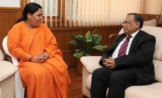 The Foreign Minister of Bangladesh, Abdul Hassan Mahmood Ali calls on the Minister for Water Resources, River Development and Ganga Rejuvenation, Sushri Uma Bharati,