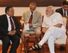 The Bangladesh Foreign Minister, Abul Hassan Mahmood Ali calling on the Prime Minister, Narendra Modi.