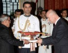 The Ambassador-designate of Croatia, Amir Muharemi presenting his credentials