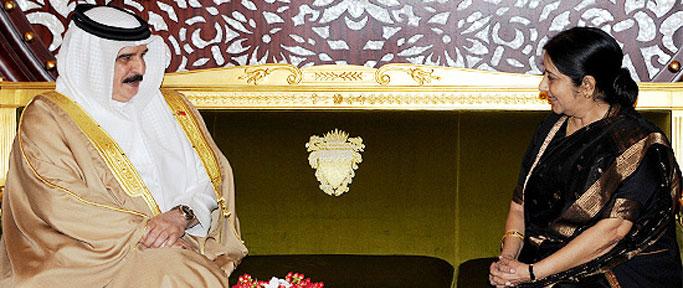 External Affairs Minister calls on His Majesty the King Hamad bin Isa Al Khalifa of the Kingdom of Bahrain