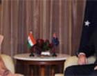 External Affairs and Overseas Indian Affairs, Smt. Sushma Swaraj meeting the Prime Minister of Australia, Mr. Tony Abbott