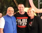 PM Narendra Modi with the host of the Global Citizen Festival Real Hugh Jackman at Central Park