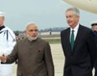 Deputy Secretary of State Bill Burns receives the PM Narendra Modi, at Andrews Air Force Base, in Washington