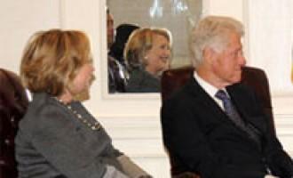 Prime Minister Narendra Modi meeting the former US President Bill Clinton in New York