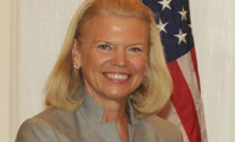 Chairman, President & CEO of IBM, Ginni Rometty meeting the PM Narendra Modi, in New York