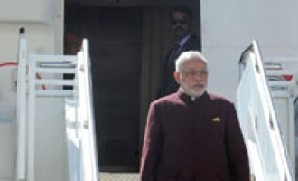 Indian Prime Minister Narendra Modi arrives in New York for 69th Session of UNGA