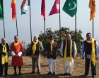 The PM, Narendra Modi along with the SAARC leaders, during the Retreat Session of 18th SAARC Summit