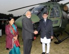 Indian PM Modi hands over Dhruv chopper to Nepal