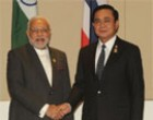 Prime Minister Narendra Modi meeting the Prime Minister of Thailand Gen. Prayut Chan-o-cha, at Nay Pyi Taw, Myanmar