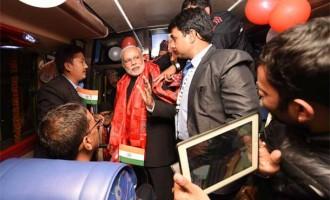 PM Modi flags off Kathmandu-Delhi bus service