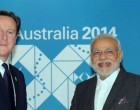 Prime Minister Narendra Modi meeting the Prime Minister of United Kingdom, David Cameron, in Brisbane