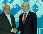 Prime Minister Narendra Modi meeting the President of the European Council, Herman Van Rompuy, in Brisbane