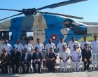 External Affairs Minister meets Indian Advanced Light Helicopter (ALH) crew in Maldives enroute to Mauritius