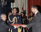 The Ambassador-Designate of Serbia, Vladimir Maric presenting his credential to the President,