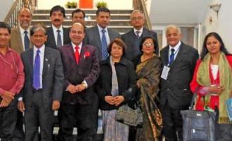 Indian Ambassador to Uzbekistan with Indian Delegation invited as International Election Observers for Uzbek Parliamentary Elections