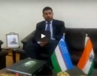 His Excellency Mr. Vikram Kumar Doraiswami, Indian Ambassador to Uzbekistan speaking to Diplomacyindia.com about Parliamentary Elections held in Uzbekistan 2014.