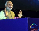 The Prime Minister, Narendra Modi addressing at the global CEO conclave, in Gandhinagar, Gujarat.