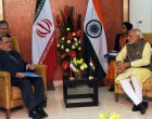 The Prime Minister, Narendra Modi meeting the Chief Advisor to President of Islamic Republic of Iran, Akbar Torkan, in Gandhinagar, Gujarat on January 11, 2015.
