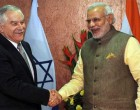 The Prime Minister, Narendra Modi meeting the Agriculture Minister of Israel, yair shamir, in Gandhinagar, Gujarat on January 11, 2015.