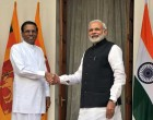 The Prime Minister, Narendra Modi and the President of the Democratic Socialist Republic of Sri Lanka, Maithripala Sirisena,