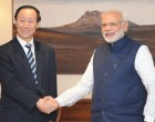 Visiting Chinese leader calls on Modi