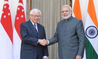 Singapore president meets Modi, Smart Cities, skills on agenda