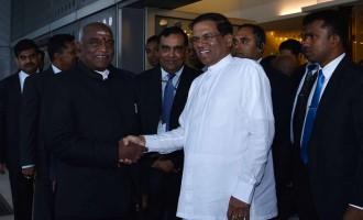 Sri Lankan president arrives on India visit