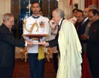 The Ambassador-designate of the Peoples Republic of Algeria, Hamza Yahia Cherif presenting his credential to the President, Pranab Mukherjee
