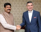 The Ambassador of Iraq to India, Ahmad Berwari meeting the MoS for Petroleum and Natural Gas (IC), Dharmendra Pradhan