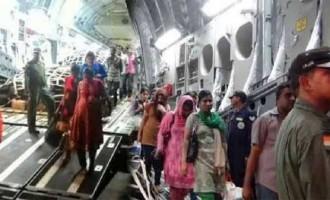 Yemen evacuation: Over 350 head home on two IAF flights