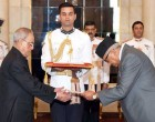 The Ambassador-designate of Nepal, Deep Kumar Upadhyay presenting his credential to the President,