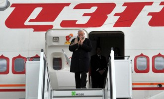 PM Modi arrives in Berlin, to hold talks with Merkel