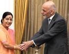 President Ghani meets Sushma Swaraj, to hold talks with Modi