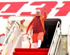 Modi leaves for Laos
