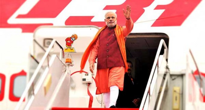 Modi leaves for SCO Summit in China